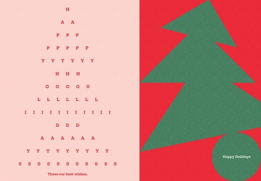 Illustrative Holiday Postcard