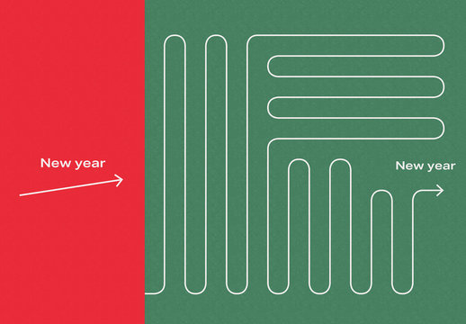 Infographic Holiday Postcard