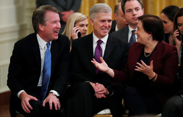 U.S. Supreme Court Associate Justices Kavanaugh, Gorsuch and Kagan attend Presidential Medal of Freedom ceremony in Washington