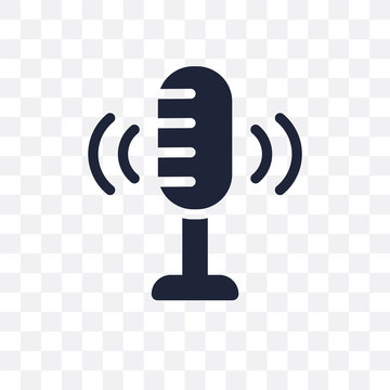 Voice recording transparent icon. Voice recording symbol design from Music collection.
