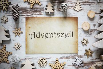 Rustic Christmas Decoration, Paper, Adventszeit Means Advent Season