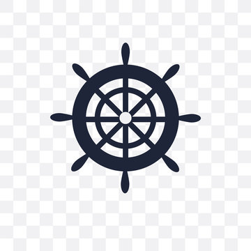 Boat Steering Wheel transparent icon. Boat Steering Wheel symbol design from Nautical collection.