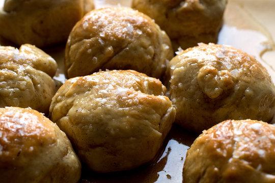 Close up of sticky buns