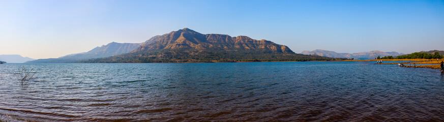 lake in mountains, mulshi, pune, maharashtra
