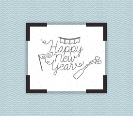 happy new year frame with party icons