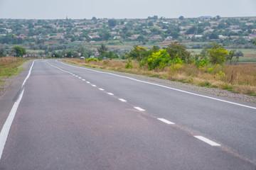 Asphalt road with road markings
