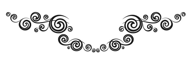 Vintage decorative calligraphic element