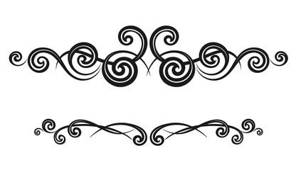 Vintage decorative calligraphic borders