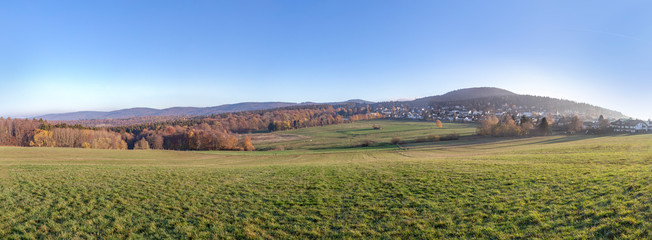 rural landscape in the Taunus region in morning light