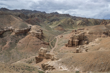 Charyn canyon is a landmark of Kazakhstan, a unique natural monument near Almaty