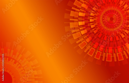 Abstract Orange Color Background Modern Geometric Graphic