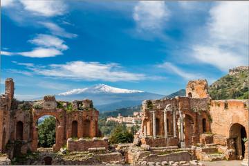 Griechisch-römisches Theater in Taormina; Sizilien; Italien Fototapete