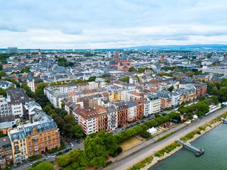 Mainz aerial panoramic view, Germany