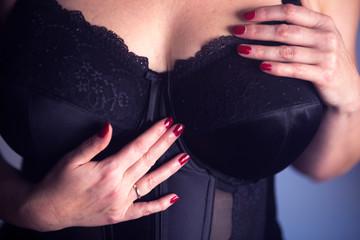 Erotic model lingerie big breasts
