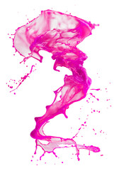 Fototapete - pink paint splash isolated on a white background