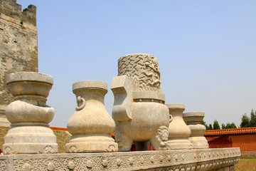 traditional Chinese style stone tablets