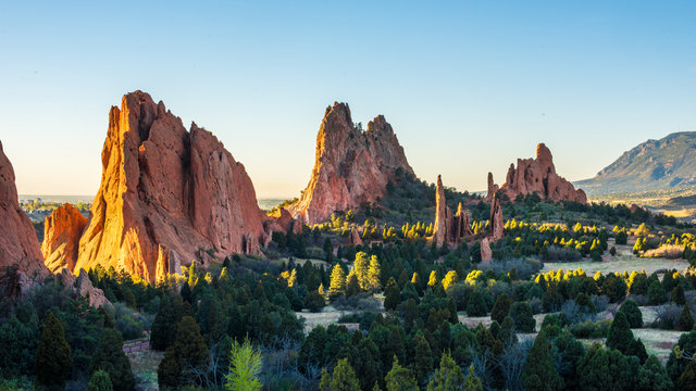 Sunrise at the Garden of the Gods in Colorado Springs, CO