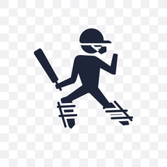 Cricket player transparent icon. Cricket player symbol design from Professions collection.