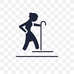Pensioner transparent icon. Pensioner symbol design from Professions collection.