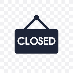 Closed sign transparent icon. Closed sign symbol design from Museum collection.