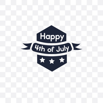 4th of july transparent icon. 4th of july symbol design from United states of america collection.