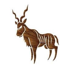 Kudu standing graphic vector.