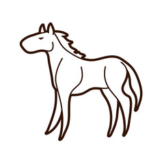 Horse standing cartoon Graphic Vector