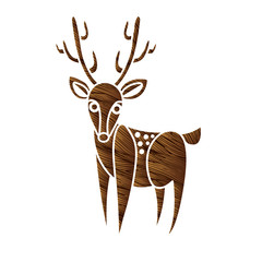 Deer cartoon graphic vector.