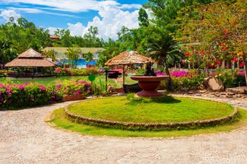 Zelfklevend Fotobehang Asia land Thap Ba mud bath, Nha Trang