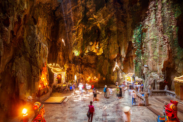 Marble mountains cave in Danang