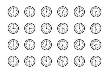 細かな刻みのあるシンプルな時計