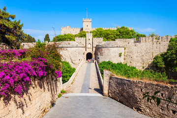 Rhodes old town in Greece