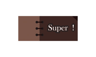 super label ,brown and white  color . rectangle banner and badges design.On white background..