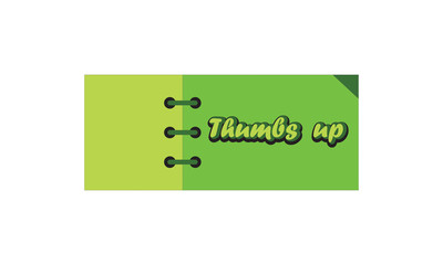 thumbs up label ,green and light green  color . rectangle banner and badges design.On white background..