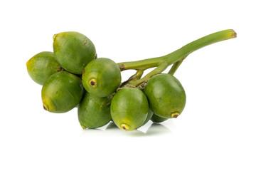 Fresh Areca nut palm or Betel nut palm (Areca catechu Linn.) isolated on white background.