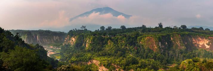 Panoramic View of the Canyon from Sianok Canyon Bukittinggi,Indonesia