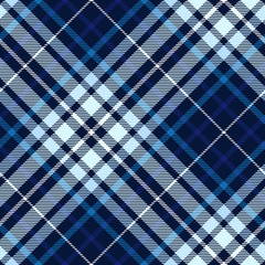 Plaid pattern in navy, pale blue, indigo and white.