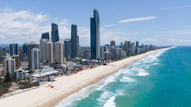Surfers paradise aerial landscape
