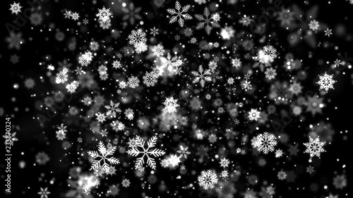 Winter, new Year and Christmas black and white background