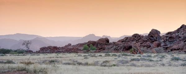wild landscape of Namibia