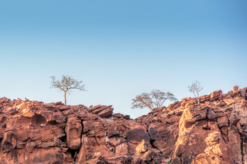 hill red stone of Namibia