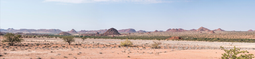 rocky landscapes of damaraland in Namibia