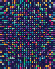 Seamless vector pattern with colorful dots, background