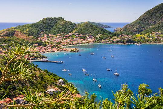 Panoramic view of Terre-de-Haut Island, Les Saintes, Guadeloupe archipelago