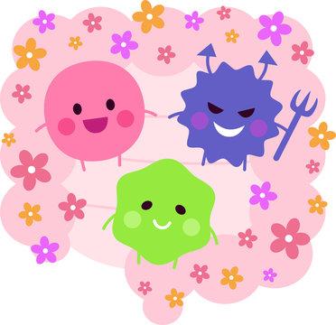 腸内細菌(善玉菌・悪玉菌・日和見菌)腸内フローラ