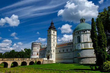 Renaissance castle in Krasiczyn. Podkarpackie voivodeship, Poland. 29-07-2016