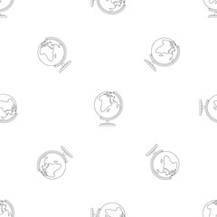 Map pattern seamless vector repeat geometric for any web design