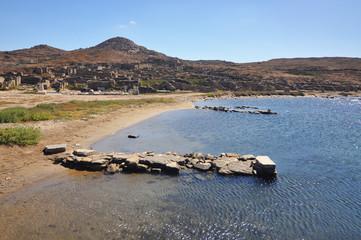 Ruins of Delos , off Mykonos in Greece