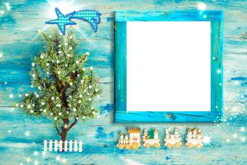 Christmas Nativity photo frame greetings