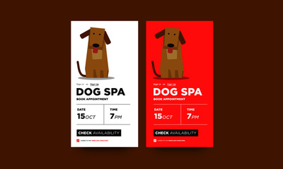 Dog Spa Book Appointment App Design for Smart Phones